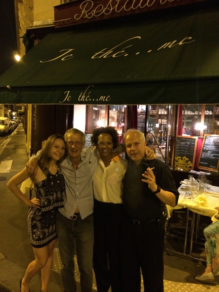 The Muse, Jacky Larsonneur, Hartmuth, and Frau Kolb at Je thé... me in Paris, France. Summer, 2014!