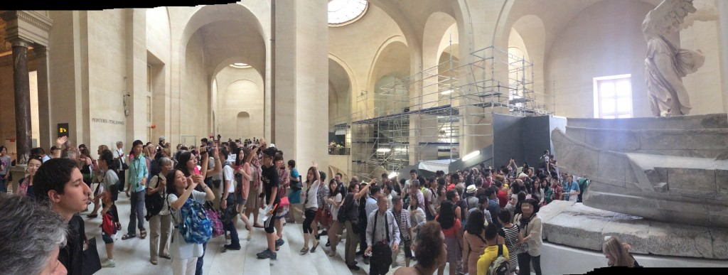 Panoramic picture of the culture hungry hordes invading the Louvre in search of the enduring, by HC Kolb, Paris, France, Summer 2014